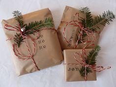 Geschenke schön weihnachtlich verpacken :)   #Weihnachten #Geschenke #verpacken #Tanne #klassisch