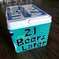 COOLERSbyU Painted Cooler Examples | 21 Beers Later | Tags: spongebob, beer, cartoon, quotes, cooler Beer Cartoon, Cartoon Quotes, Fraternity Coolers, Frat Coolers, Painted Coolers, Beer Cooler, Cooler Painting, Spongebob, College