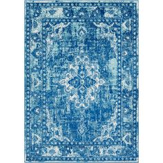 Laurine Blue 7 ft. 10 in. x 10 ft. 3 in. Area Rug