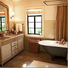 From the movie It's Complicated...best movie house ever. Repaint master vanity?