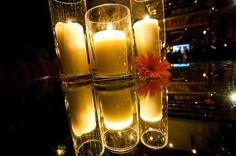 decoração de casamento com vidros e velas