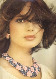 Isabella Rossellini - wow, you don't often see a pic of Isabella with long hair - what a stunner!  Love her!