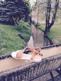 Massalia sandal Madeinfrance handmade Aphrodite or et naturel