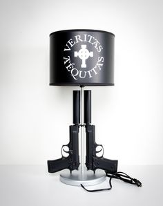 rifle lamp - oh how my family would love this! | Basement ...