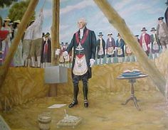 George Washington designed the Capitol City with the symbols and signs of Freemasonry for ritual purpose's . Picture of Washington laying the cornerstone of capitol building.
