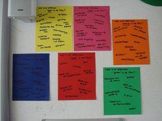 Kringactiviteit: Ga iedere dag in de klas op zoek naar een kleur en noteer ze op een gekleurd papier.