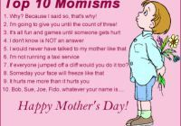 Mothers Day Top 10 SMS