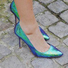 Green Metallic Shoes