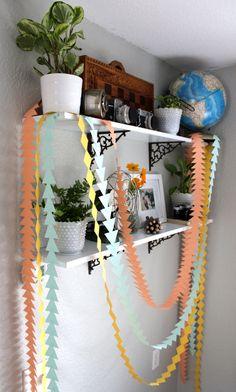 DIY Geometric Garland :: Hometalk