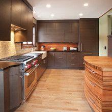 Kitchen: Granite + Butcher block + Apron Sink!