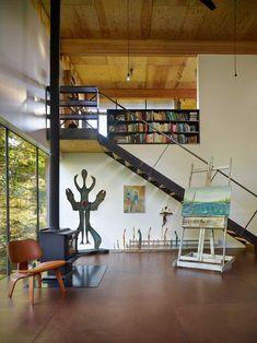 An Artist's Studio in the Woods of Washington State by Olson Kundig - Design Milk