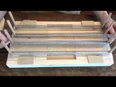 DYE BOARD WARPING LOOM by YARN FARM - YouTube