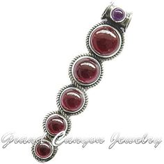 'Genuine Ruby Garnet & Amethyst Cabochon Pendant 925' is going up for auction at  5pm Tue, Feb 5 with a starting bid of $5.