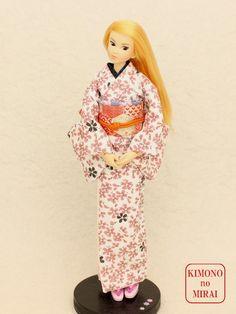 Best Japanese KIMONO dress,SAKURA kimono,for dolls Jenny,Momoko,Pullip outfit | eBay