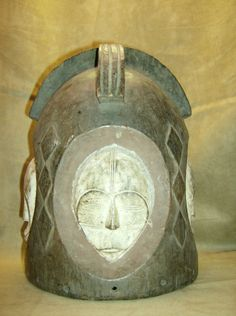 FANG NGONTANG Helmet Mask Wood Carving African Art Collectibles