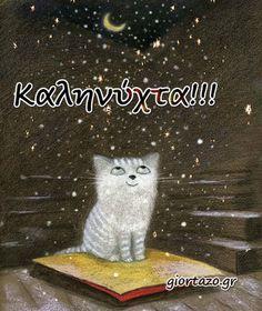 Good Night, Movie Posters, Animals, Art, Gatos, Pretty Pictures, Rain Bow, Nighty Night, Art Background