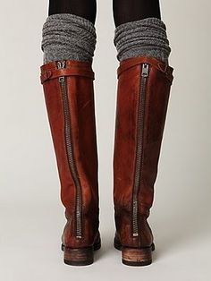 leather boots - Click image to find more Women's Fashion Pinterest pins