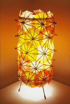 """Cute idea for DIY on a clear candle holder!""""Aloha, check out this DIY Tiki Lamp Light accentuated by groovy paper umbrellas! Very retro. Tiki Art, Tiki Tiki, Tiki Lights, Cocktail Umbrellas, Tiki Decor, Outdoor Decor, Tiki Lounge, Paper Umbrellas, Vintage Tiki"""