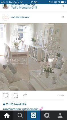 Liatorp I love this, but it needs just a touch of color. Maybe vases, pillows, flowers. Salon Shabby Chic, Shabby Chic Decor, Liatorp, Decor Room, Living Room Decor, White Rooms, White Decor, Interior Design Living Room, Home And Living