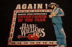 Vintage Hank Williams Jr T-Shirt Bocephus CMA Award