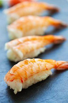 Nigiri - Nigiri Sushi - Shrimp Nigiri - Rasa Malaysia Seafood Appetizers Seafood Appetizers Appetizers Appetizers for a crowd Appetizers parties Nigiri Sushi, Sashimi, Cooked Sushi Recipes, Sushi Roll Recipes, Cooking Recipes, Healthy Recipes, Rasa Malaysia, Appetizers For A Crowd, Seafood Appetizers