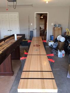 Man Cave Ideas and a Guide to a Successful Design - Man Cave Home Bar Shuffleboard Table, Man Cave Home Bar, Do It Yourself Home, Diy Table, Bars For Home, Decoration, Home Projects, Outdoor Projects, Game Room