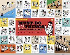 '홍대 앞에서 꼭 해봐야 할 36가지'에 관한 인포그래픽