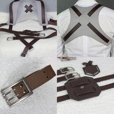 Cottory Attack on Titan Leather Belts Cosplay Harnesses Deluxe Ver