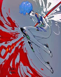 Evangelion - Rei Ayanami BY Ssaki Metel Don t forget to support the artists Neon Genesis Evangelion, Evangelion Tattoo, Evangelion Shinji, Chica Anime Manga, Kawaii Anime, Anime Art, Rei Ayanami, Character Art, Character Design
