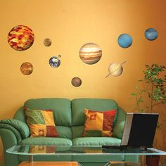 educational solar system planets wall sticker by the binary box | notonthehighstreet.com