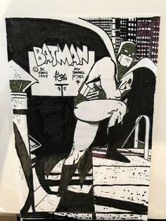 Alex Toth Batman Drawing circa in J L& Alex Toth Comic Art Gallery Room Comic Book Artists, Comic Artist, Comic Books Art, Batman And Catwoman, Batman Comics, Comic Book Panels, Comic Book Covers, Character Model Sheet, Character Design