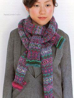 Fair Isle Knitting by Chihiro Sato Japanese by JapanLovelyCrafts, $43.00