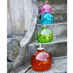 Colorful Glass Outdoor Torch Set - for summer nights at the lake!