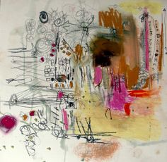 scribbles on 12 by 12 in acrylic pad - wendy mcwilliams
