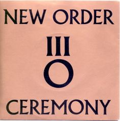 New order 'Ceremony' single cover