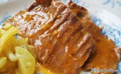Source: A Cat in the Kitchen The beef tongue It has many varieties of preparation and is made in many countries. Spanish Kitchen, Spanish Cuisine, Beef Tongue, Air Fryer Recipes, Stew, Crockpot, French Toast, Recipies, Pork