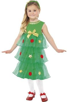 Kids Little Christmas Tree costume includes a tutu style green detailed dress and headband. product satisfaction at Irelands online fancy dress store. Christmas Tree Fancy Dress, Christmas Tree Costume, Girls Christmas Dresses, Christmas Tutu, Christmas Unicorn, Christmas Star, Gold Christmas, Holiday Dresses, Xmas Tree