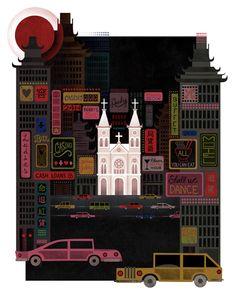 Sin Cities  --  Maria Corte Illustration