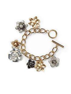Tinley Road Flower Charms Bracelet - $32.00