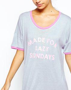 edb4b0ef0f Image 3 of Chelsea Peers Made For Lazy Sundays Nightshirt Sleep