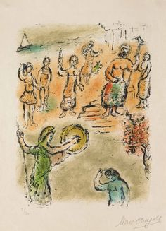 Chagall, Assembly of the Gods (M.754, L'Odyssée)