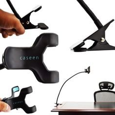 caseen QUAD Grip Universal Smartphone Desk Mount Holder Cradle [24-Inch Flexible Long Wire] for Apple iPhone 6 6 Plus 5S 5C 5 4S 4, Samsung Galaxy S5 S4 S3, Note 4 / 3 / II, HTC One / One Max, Sony Xperia, Moto X, Droid Razr, LG G2 / G3, Google Nexus 6 / 5 / 4 [Universal fits most Mobile Cell Phone / Phablet] - The caseen QUAD Grip universal smartphone desk mount is universal fit for most cellular mobile phones. QUAD Grip has four clamps that sink in to grab your device for a