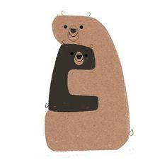 Art And Illustration, Cute Animal Illustration, Animal Hugs, Bear Graphic, Bear Art, Kids Prints, Cute Art, Drawings, Painting