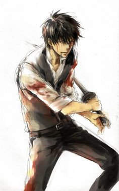 Gintama ~~ Hijikata will indeed fight to the death to protect his... mayonnaise. Yup. It's all about the condiments.