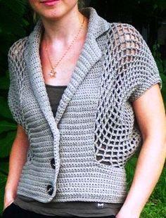 Crochet Coat, Filet Crochet, Crochet Motif, Crochet Designs, Crochet Clothes, Crochet Stitches, Crochet Summer Tops, Crochet Winter, Baby Knitting Patterns