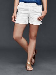 Girlfriend utility shorts. The perfect white summer short!