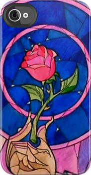 Beauty and the Beast stained glass iPhone cover.