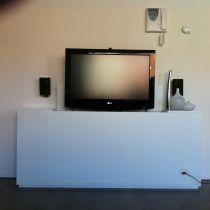 tv kast. landelijke tv kast met lift grijze uitvoering | luuksdesign.nl home pinterest