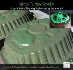 homemade ninja turtle costume   DIY Teenage Mutant Ninja Turtle Party Decorations – Turtle Shells.. planning on using for a costume not decor, but this idea looks good for both uses!