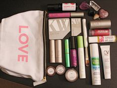 """I have been wanting to do a regular """"What's In My Makeup Bag"""" post for awhile now and was recently inspired after purchasing my new One Love Organics """"Love"""" Makeup Bag. It is so cute and chic and I..."""